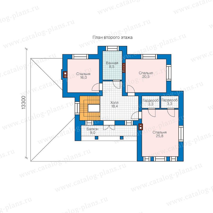 План 2-этажа проекта 58-10DL