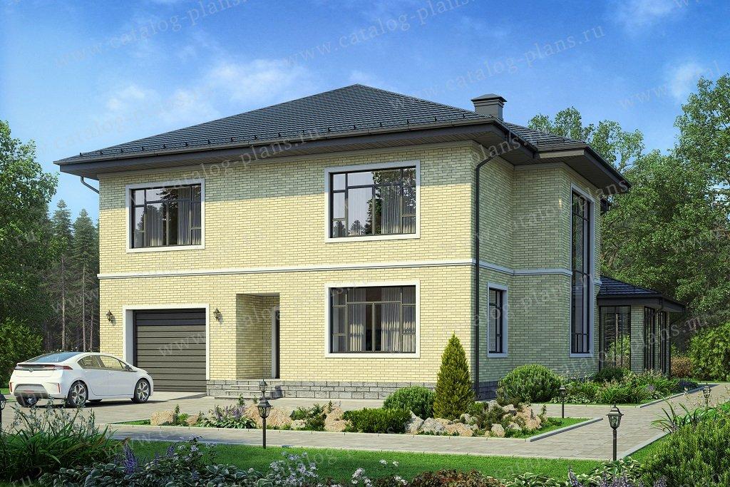 Проект жилой дом #57-54AK материал - кирпич, стиль европейский