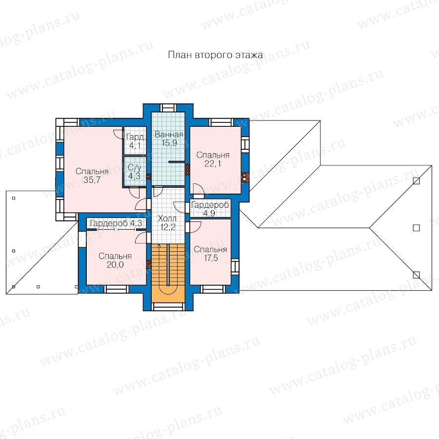 План 2-этажа проекта 48-30B