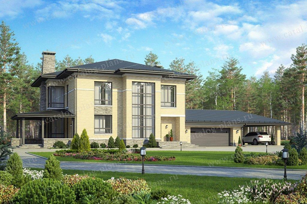 Проект жилой дом #48-30B материал - кирпич, стиль европейский