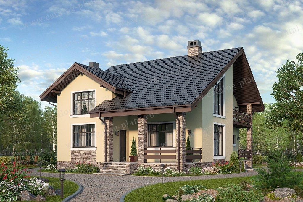 Проект жилой дом #58-47AL материал - газобетон, стиль