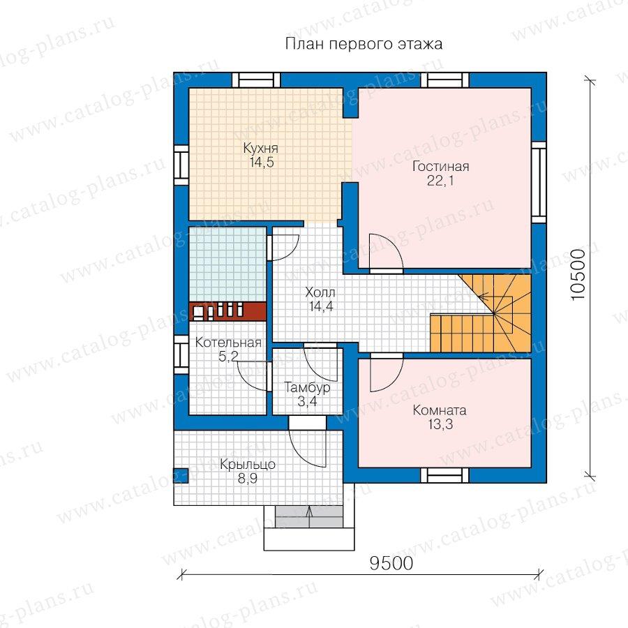 План 1-этажа проекта 57-07F