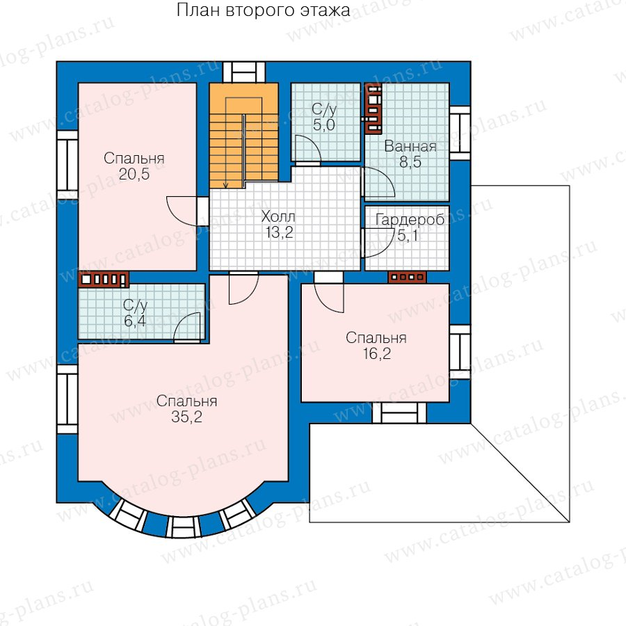 План 3-этажа проекта 57-60CKL