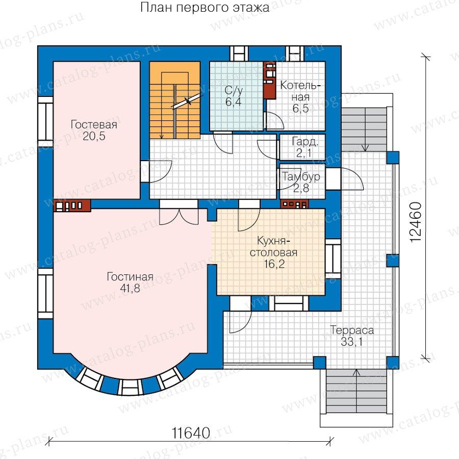 План 2-этажа проекта 57-60CKL
