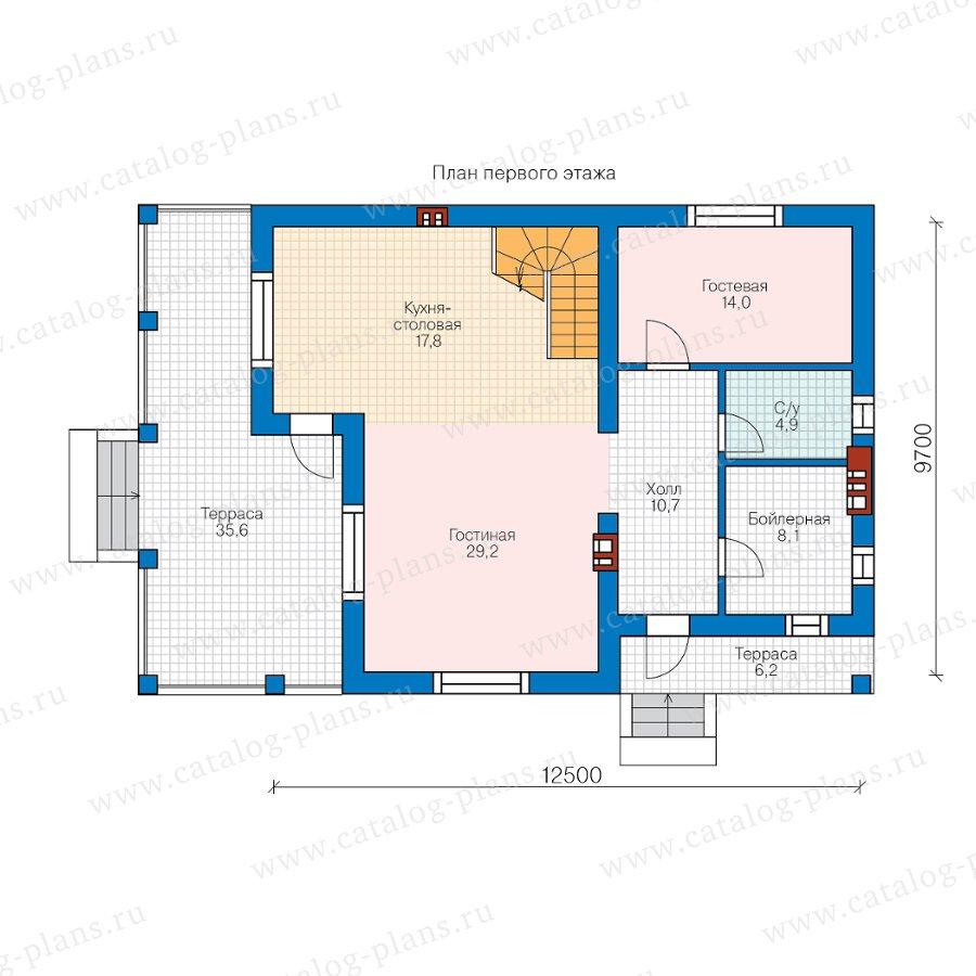 План 1-этажа проекта 58-47AL