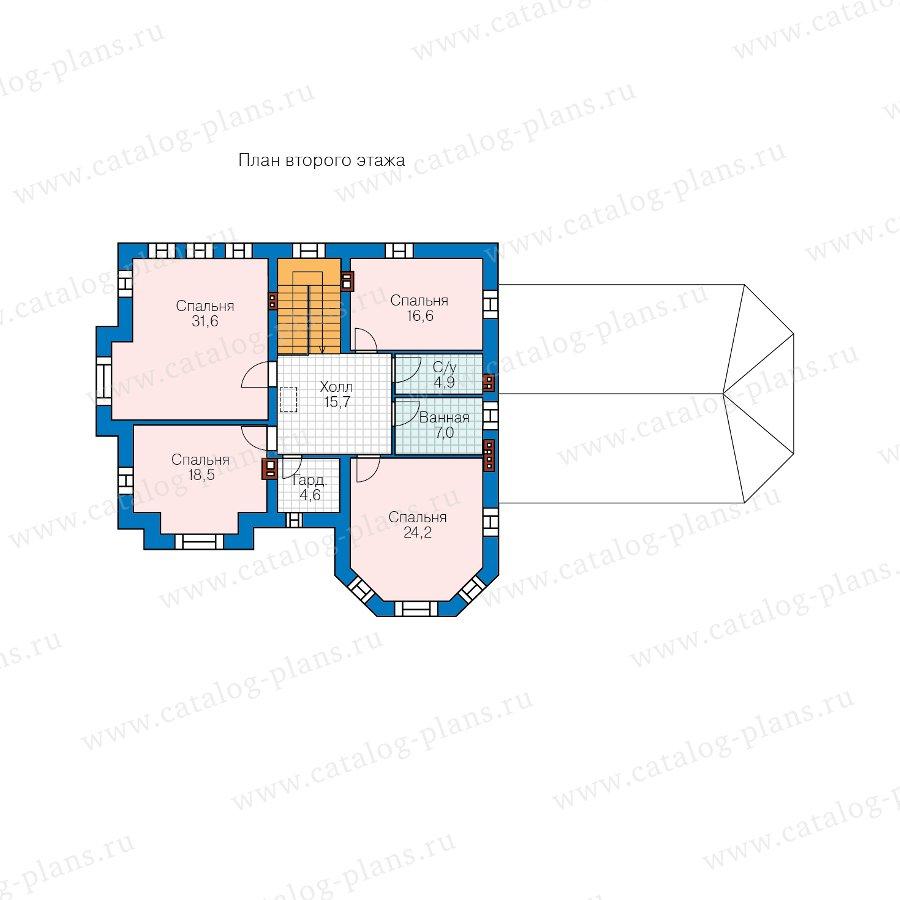 План 2-этажа проекта 48-29N
