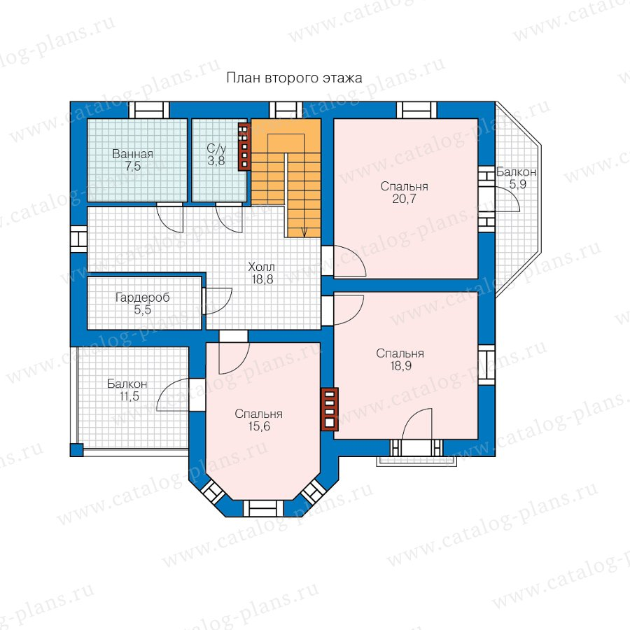План 3-этажа проекта 40-12AK1L