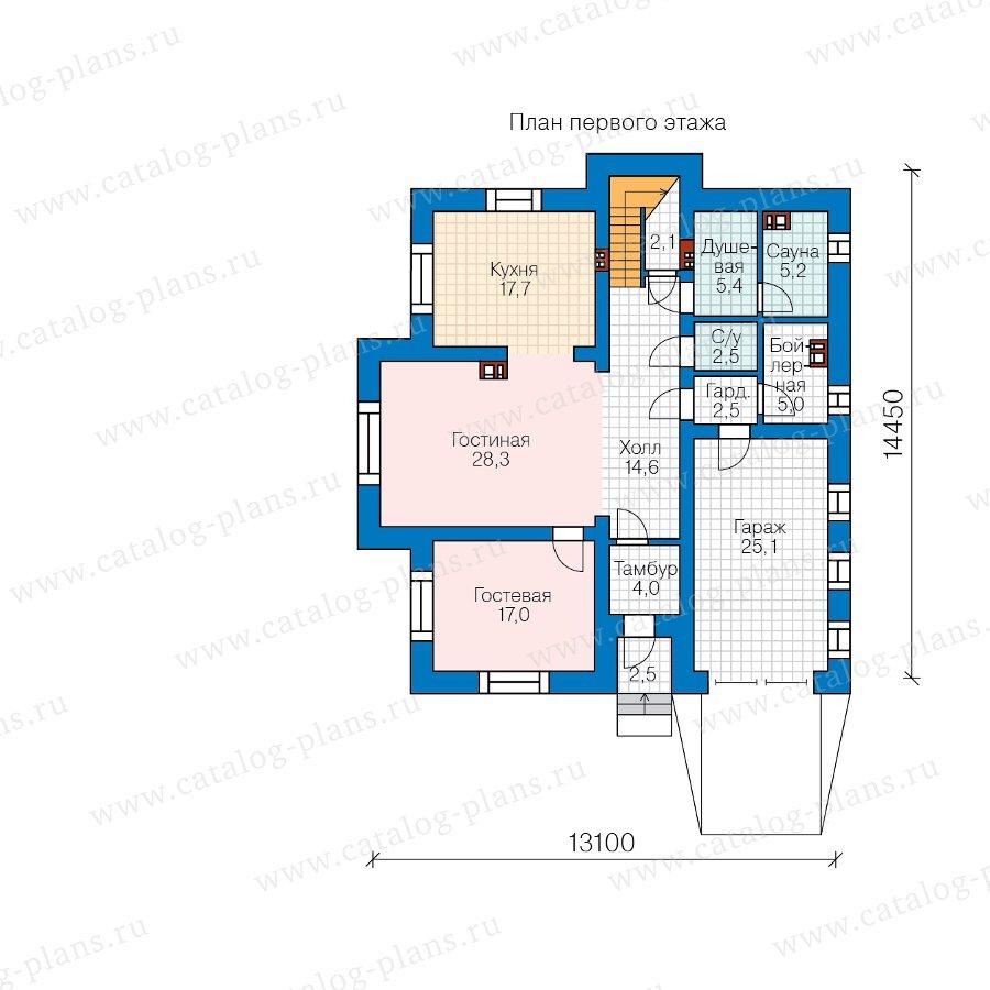 План 1-этажа проекта 57-54A