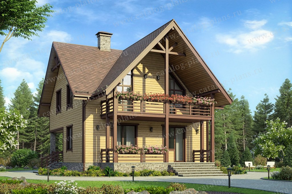 Проект дома из газобетона с мансардой 58-94a каталог проекты.