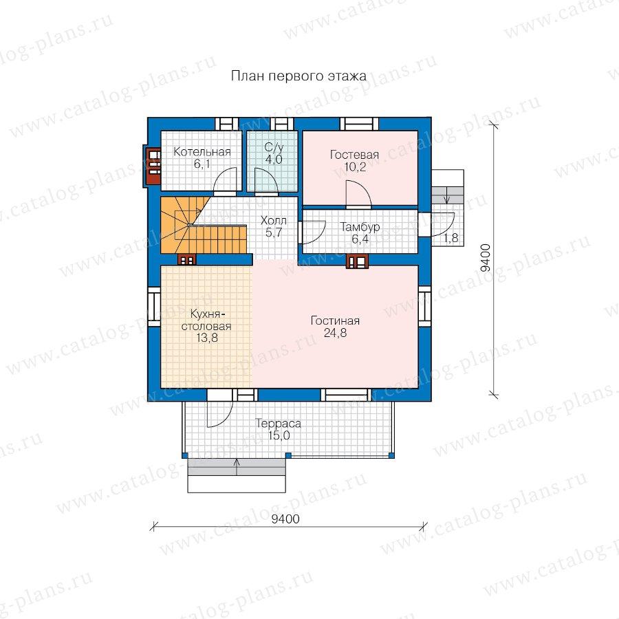 План 1-этажа проекта 58-94A