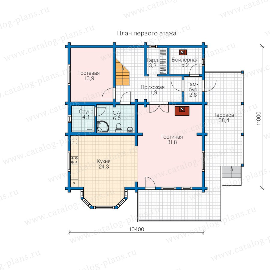 План 1-этажа проекта 11-03A