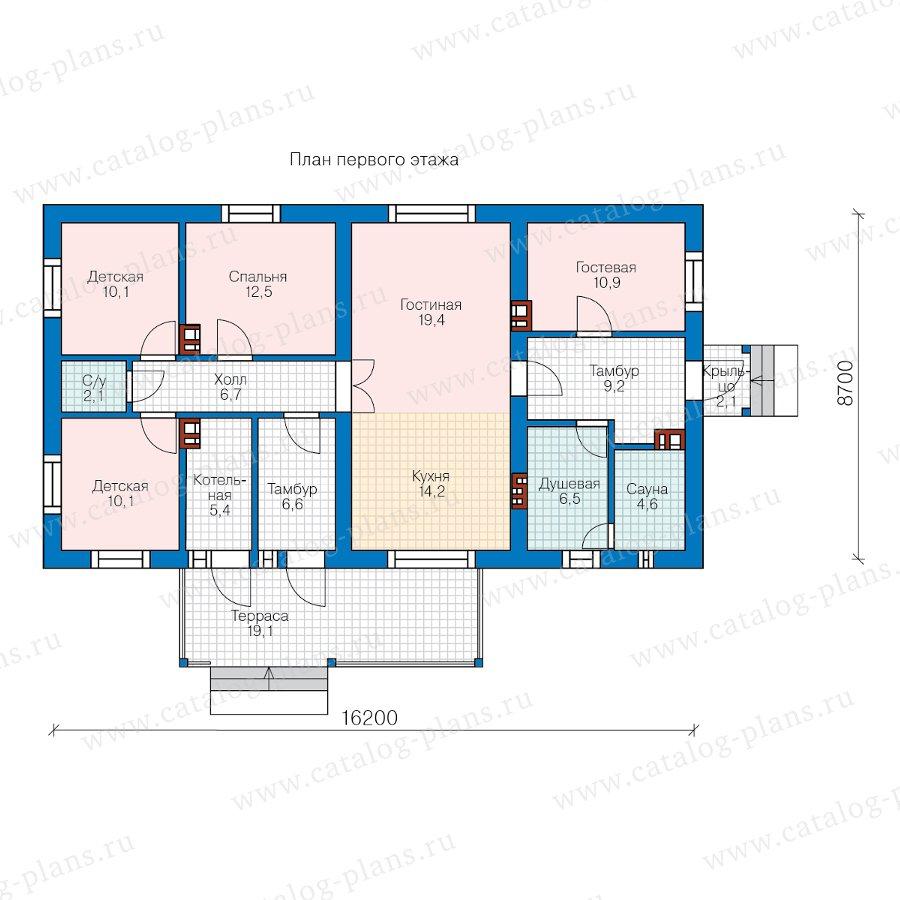 План 1-этажа проекта 62-01