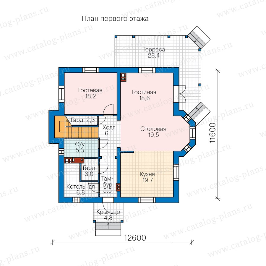 План 2-этажа проекта 62-12