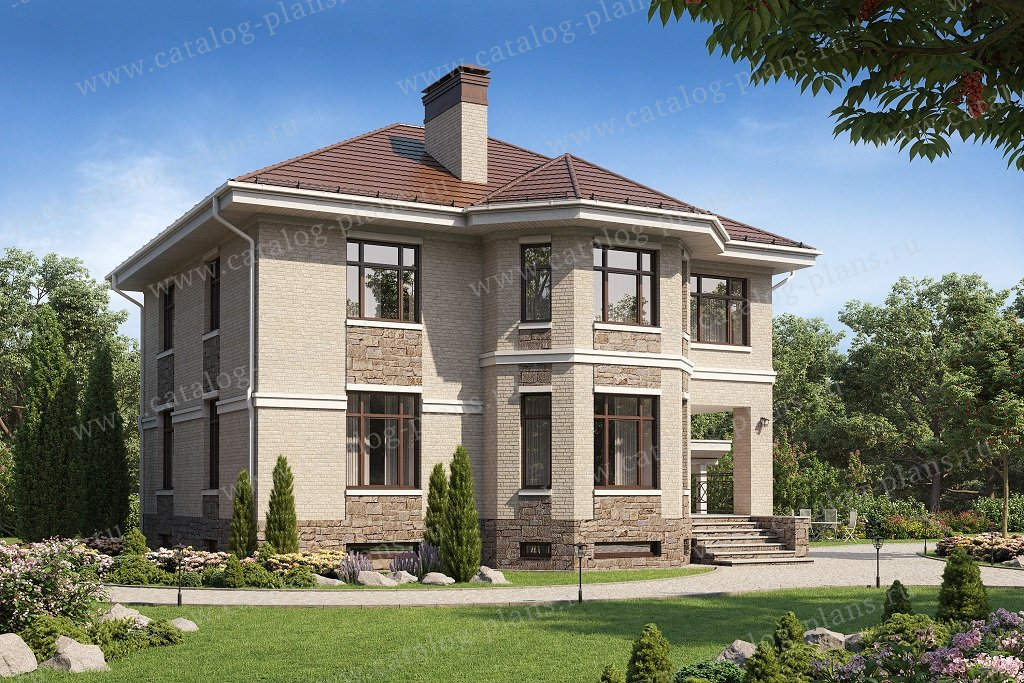Проект жилой дом #40-12B материал - кирпич, стиль