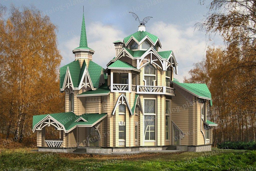 Проект жилой дом #13-80 материал - дерево, стиль модерн