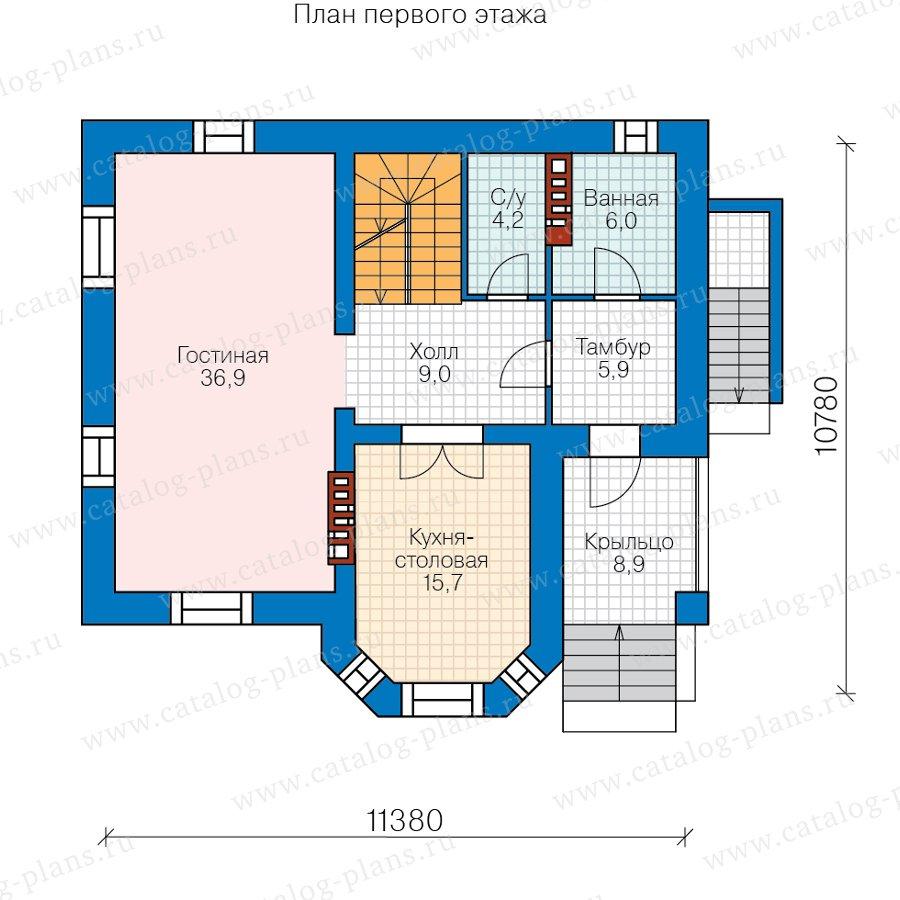 План 2-этажа проекта 40-12B