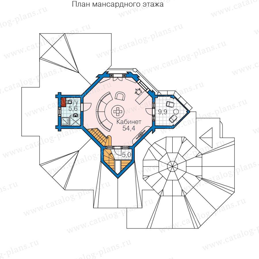 План 3-этажа проекта 13-80