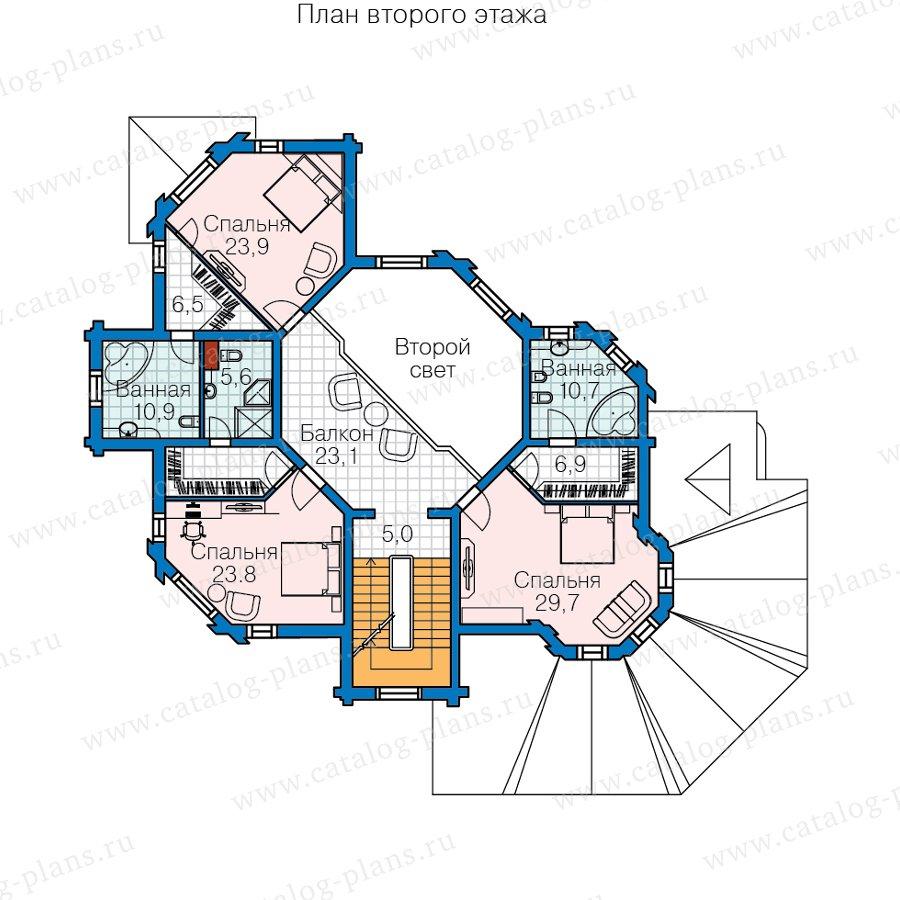План 2-этажа проекта 13-80