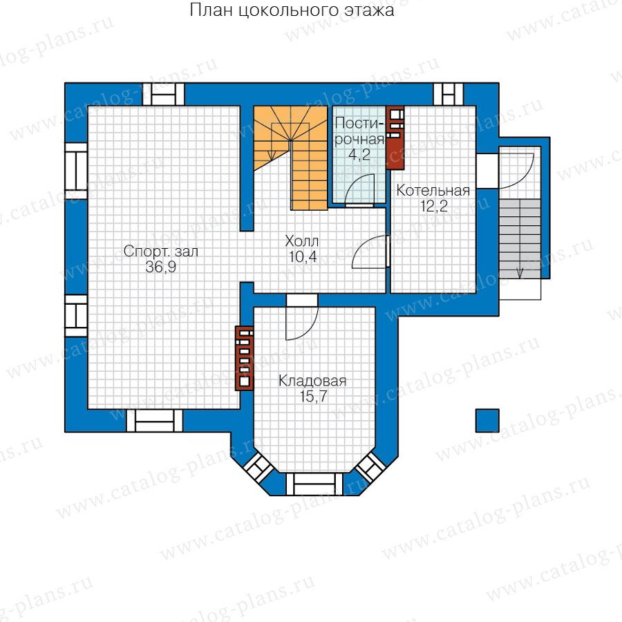 План 1-этажа проекта 40-12B