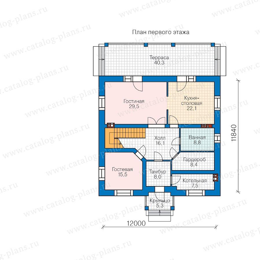 План 1-этажа проекта 45-01L