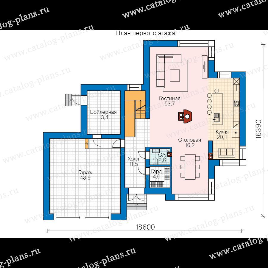 План 1-этажа проекта 62-16