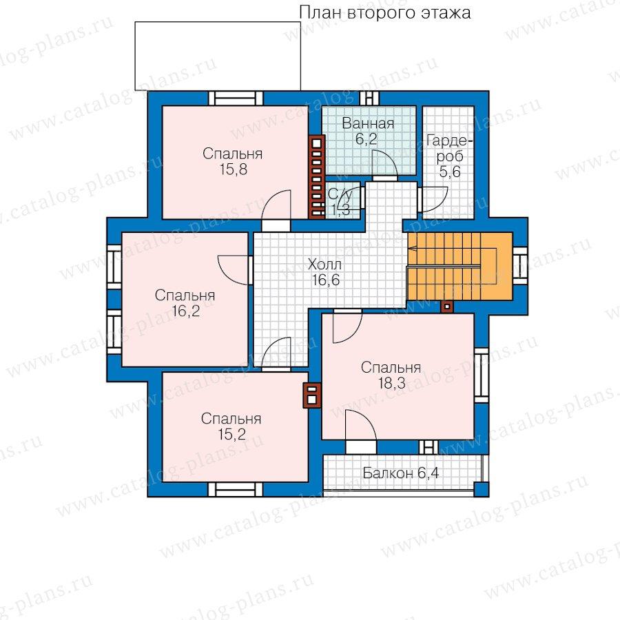План 3-этажа проекта 58-49A