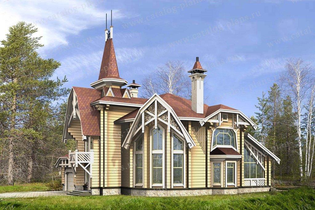 Проект жилой дом #13-81 материал - дерево, стиль модерн