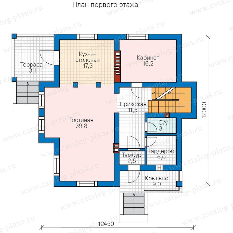 План 2-этажа проекта 58-49A