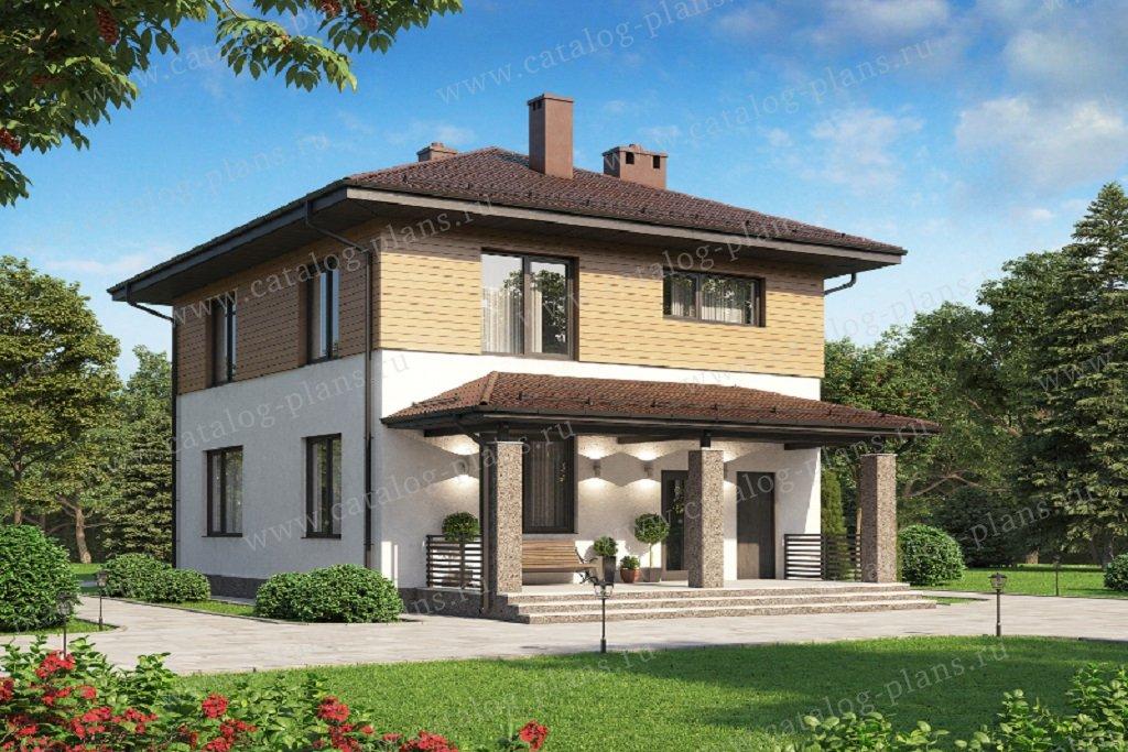Проект жилой дом #61-20 материал - газобетон, стиль