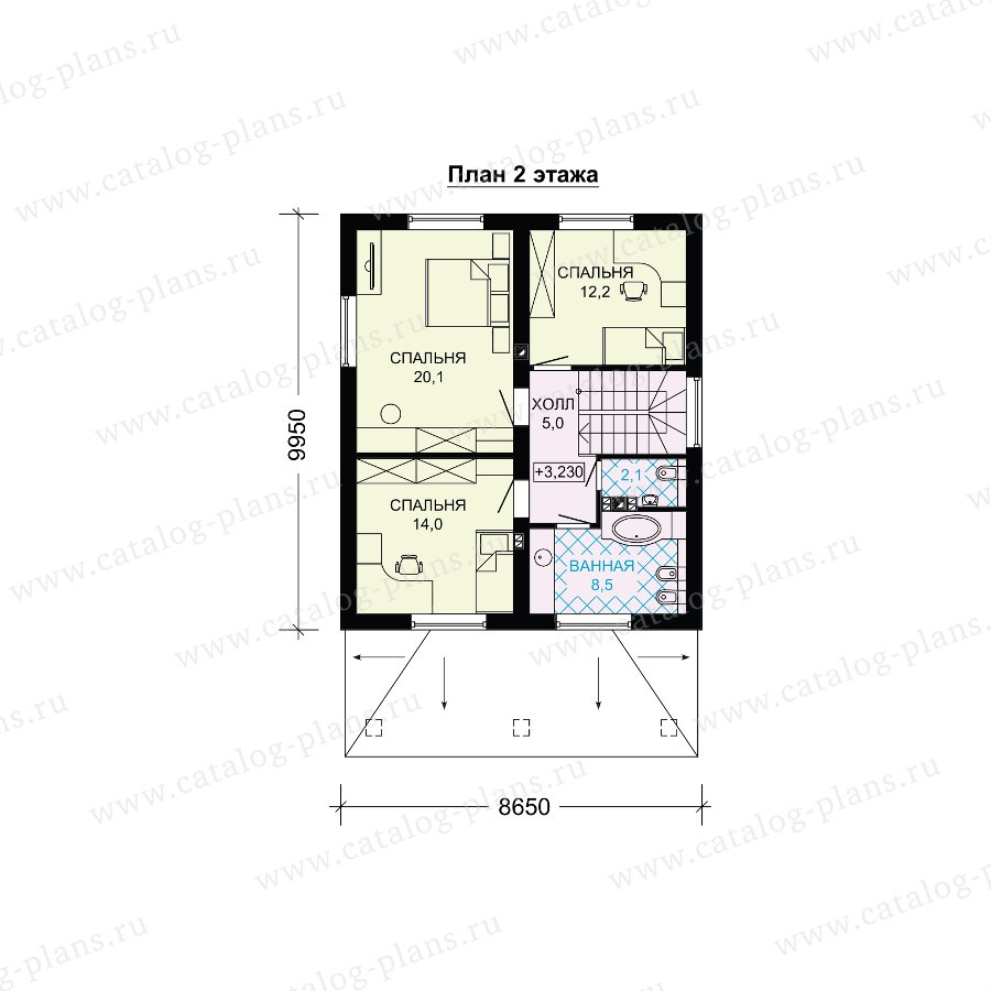 План 2-этажа проекта 61-20