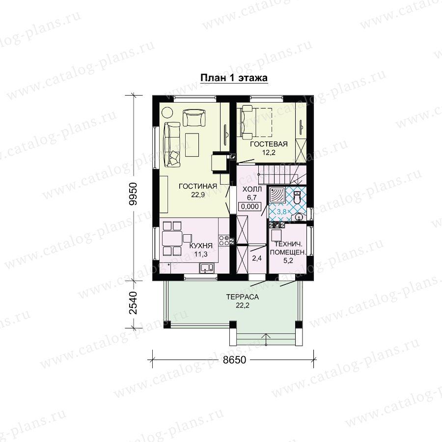 План 1-этажа проекта 61-20