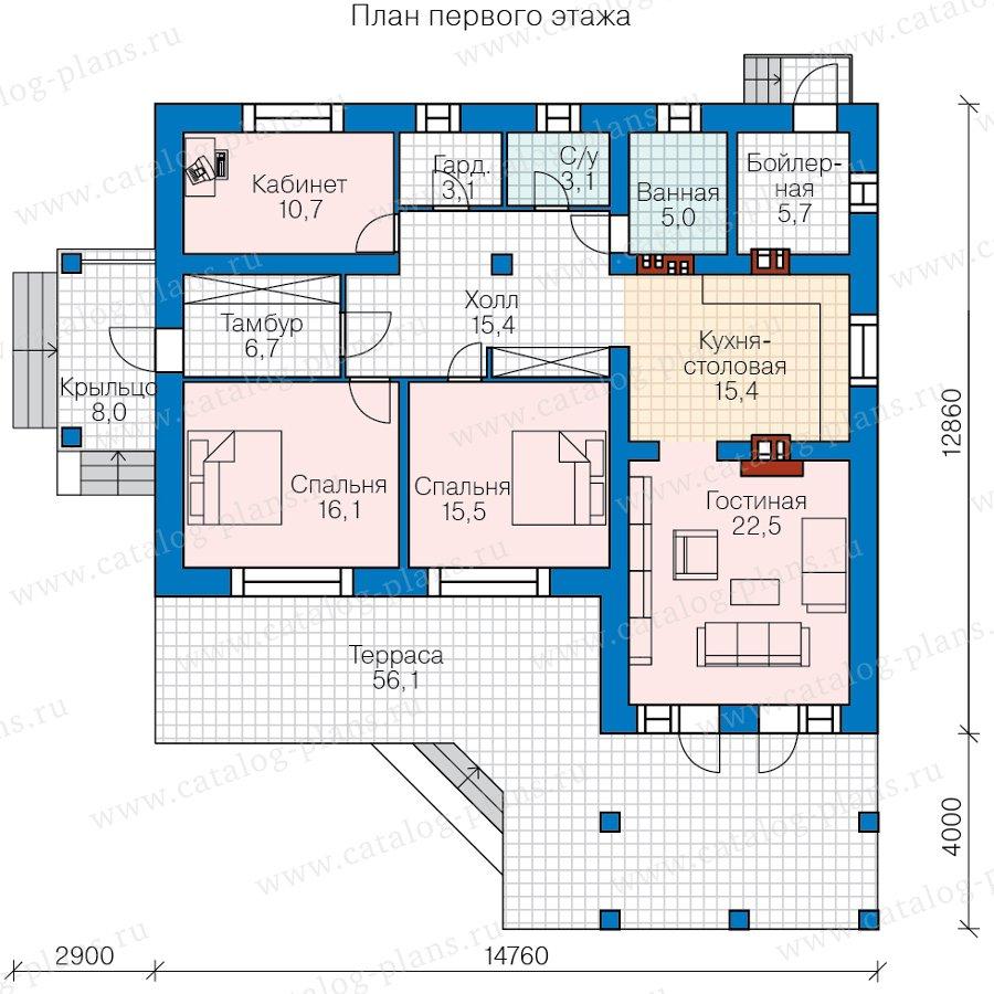 План 1-этажа проекта 62-22L