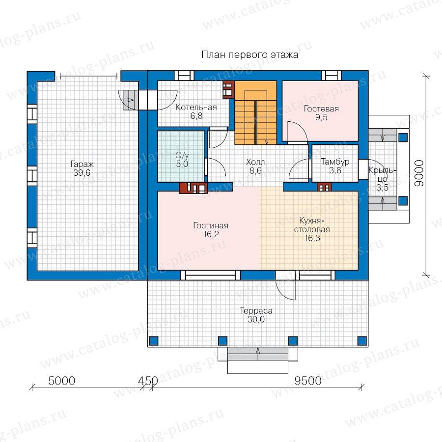 План 1-этажа проекта 40-04F
