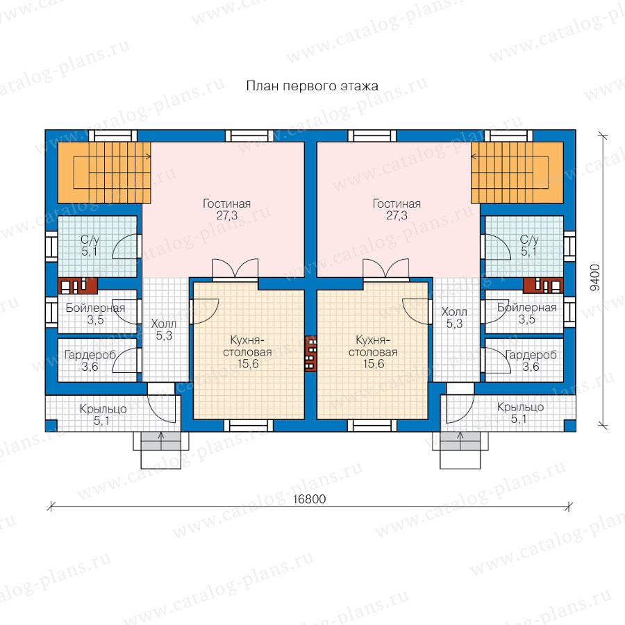 План 1-этажа проекта 58-99