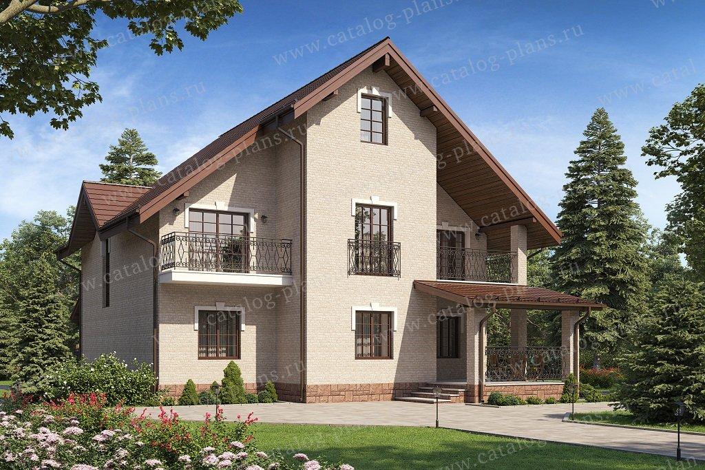 Проект жилой дом #58-34KBL материал - кирпич, стиль европейский