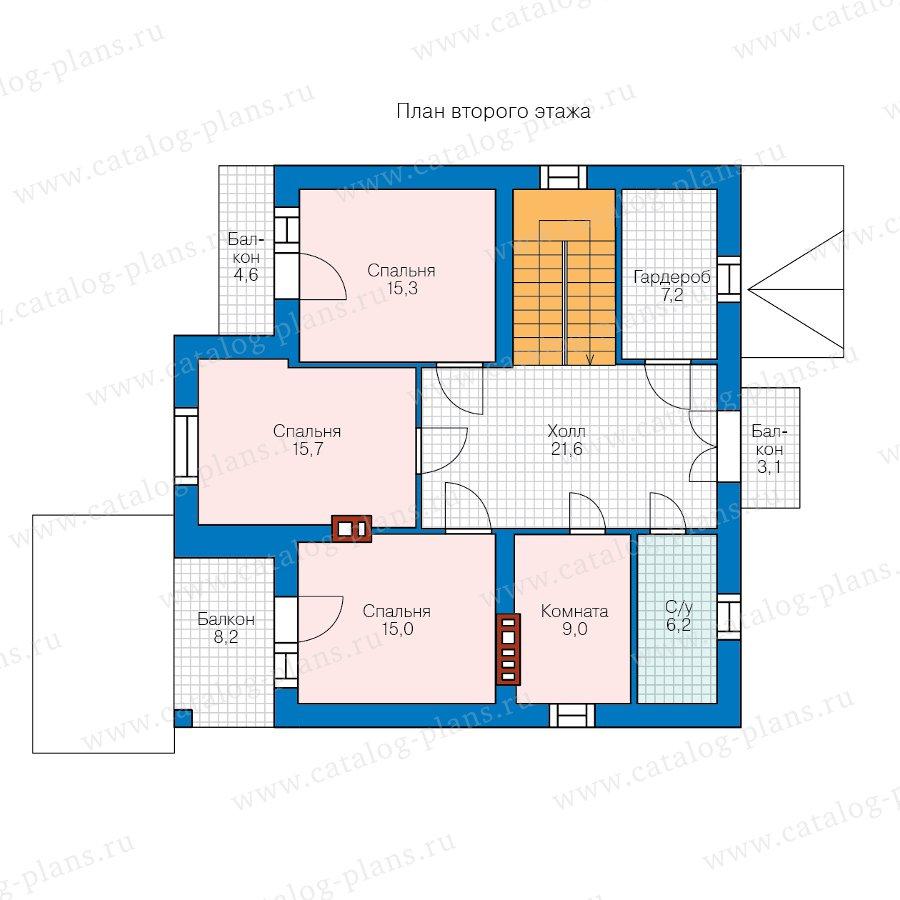 План 2-этажа проекта 58-34KBL