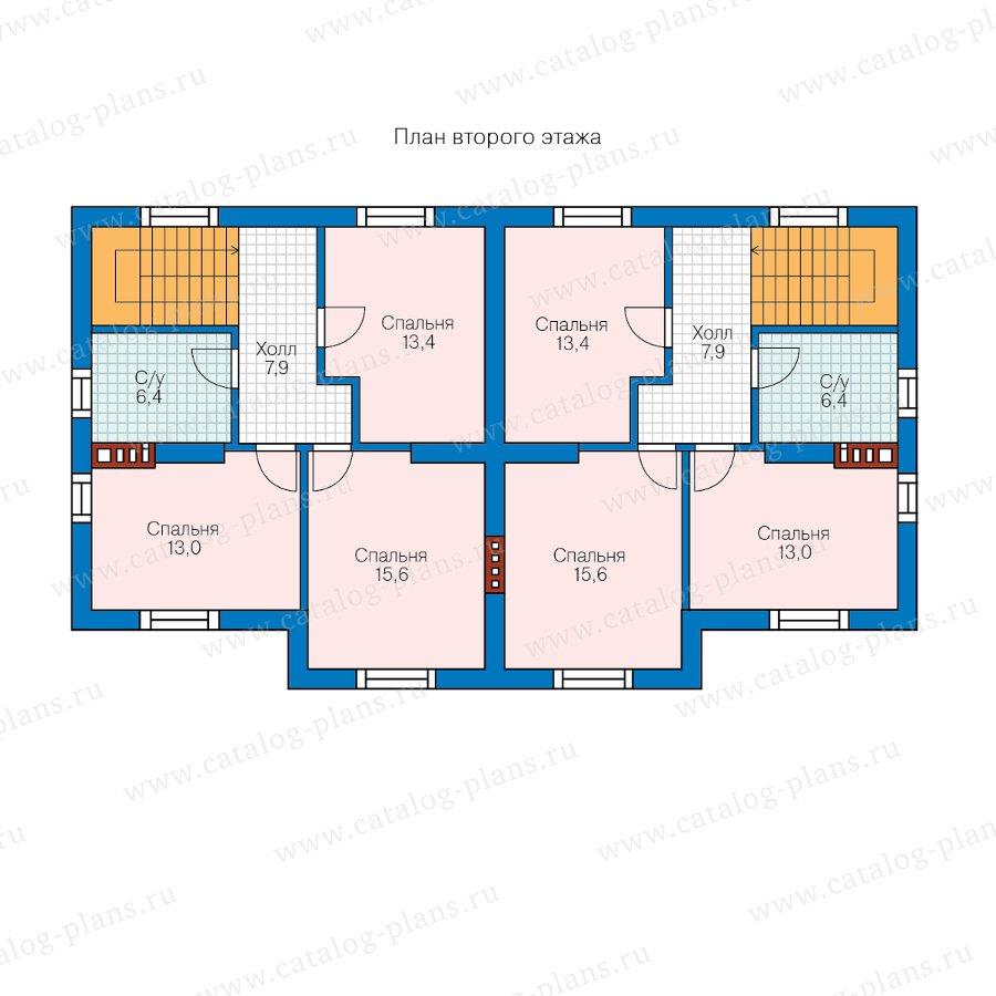 План 2-этажа проекта 58-99