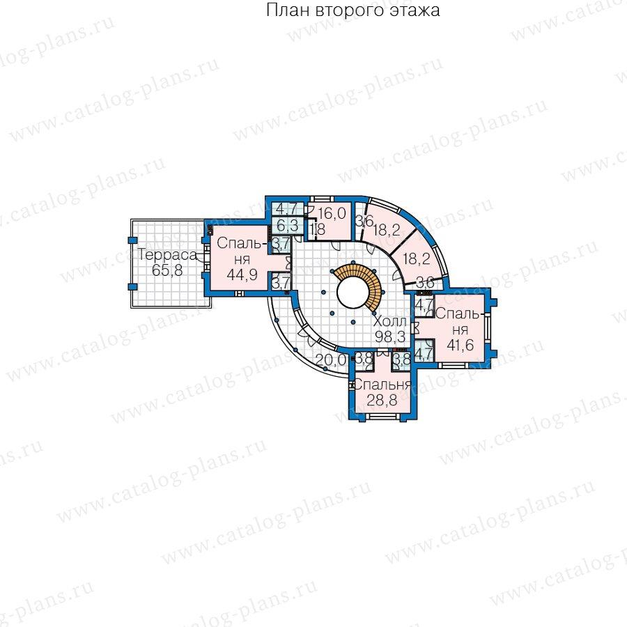 План 3-этажа проекта 40-89D