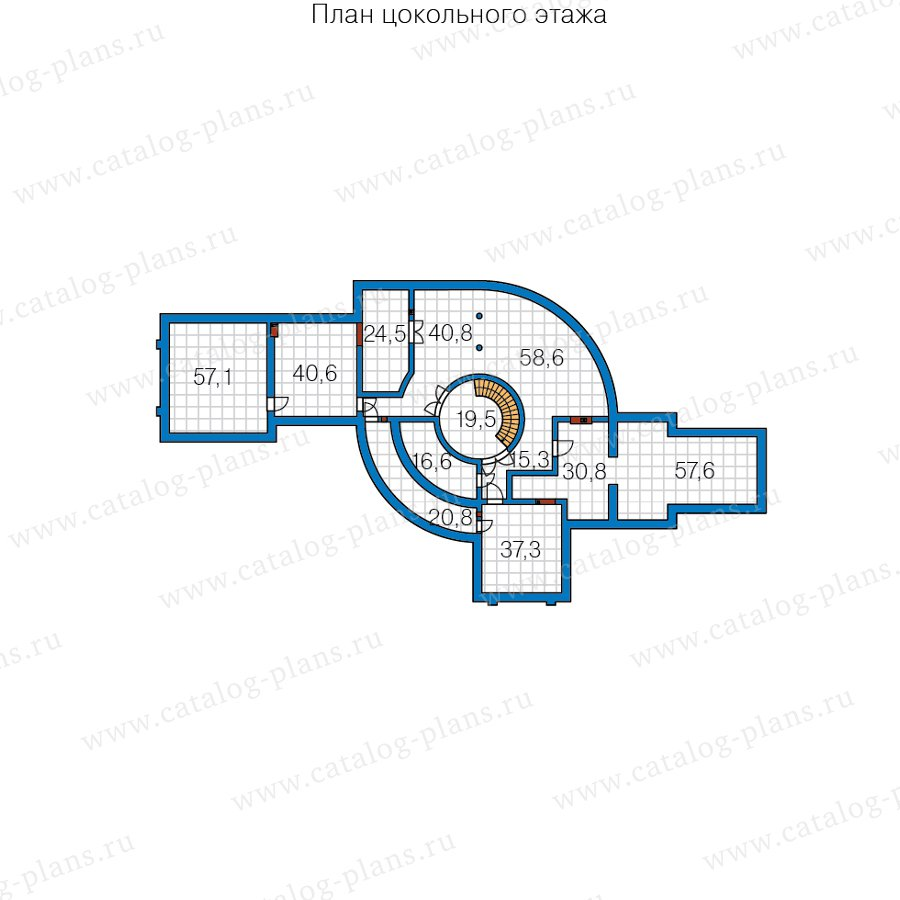 План 1-этажа проекта 40-89D