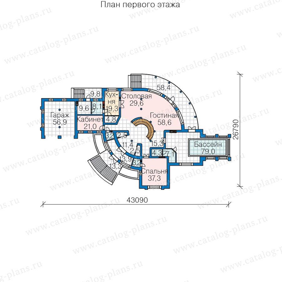 План 2-этажа проекта 40-89D