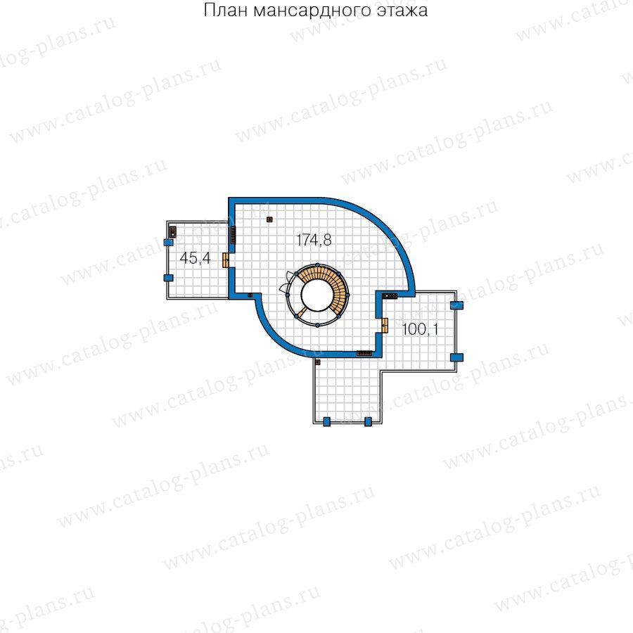 План 4-этажа проекта 40-89D