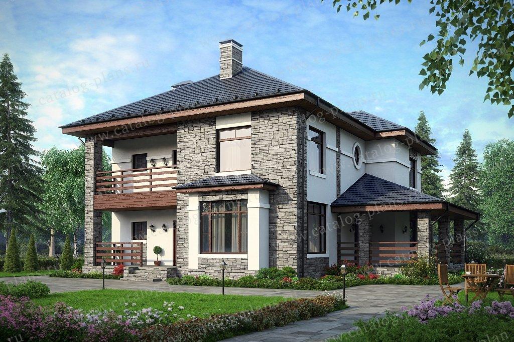 Проект жилой дом #40-54BG материал - газобетон, стиль