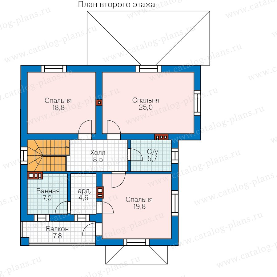 План 2-этажа проекта 40-54BG