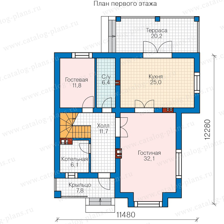 План 1-этажа проекта 40-54BG