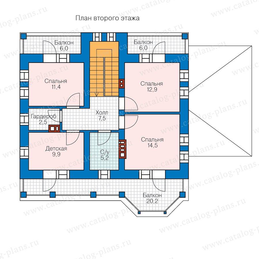 План 2-этажа проекта 57-34BL