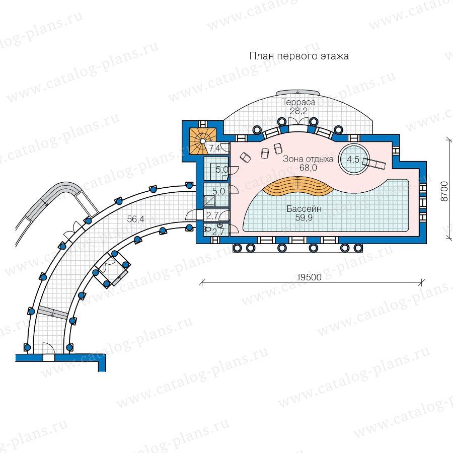 План 1-этажа проекта 47-87