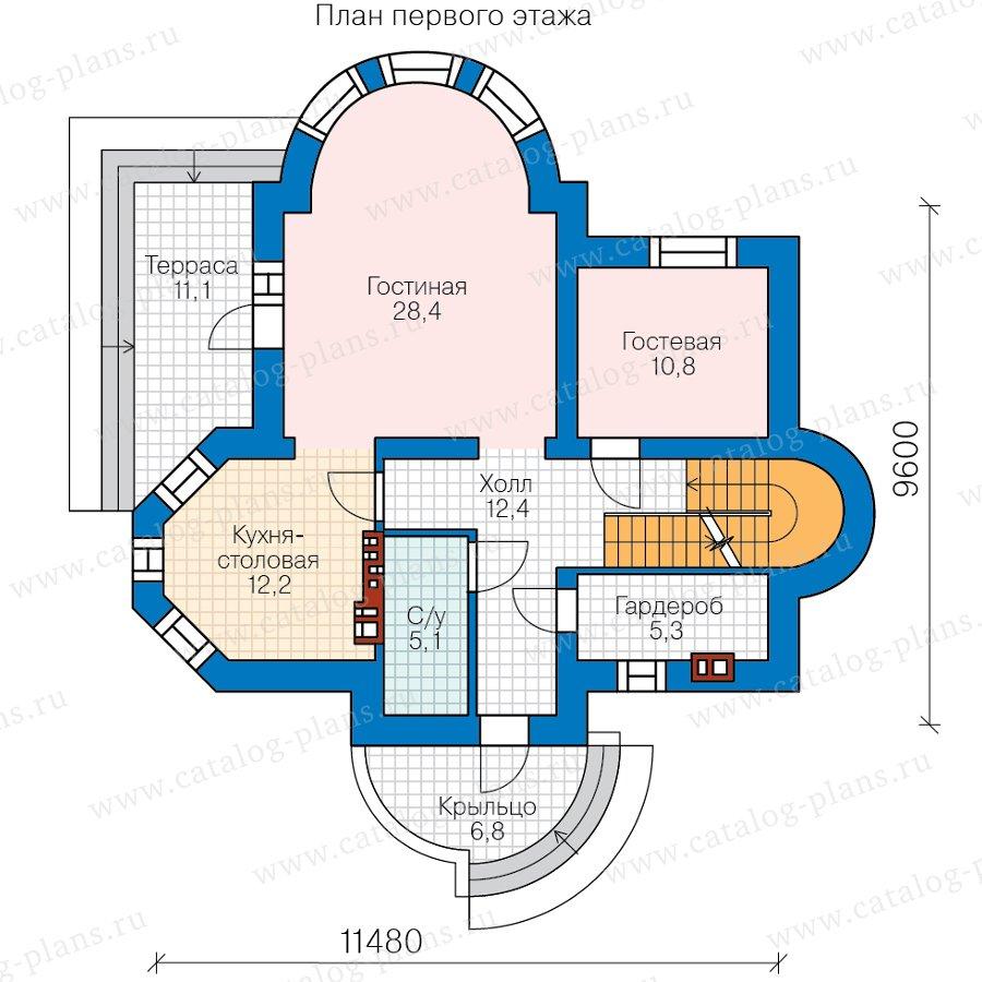 План 2-этажа проекта 40-75CGL