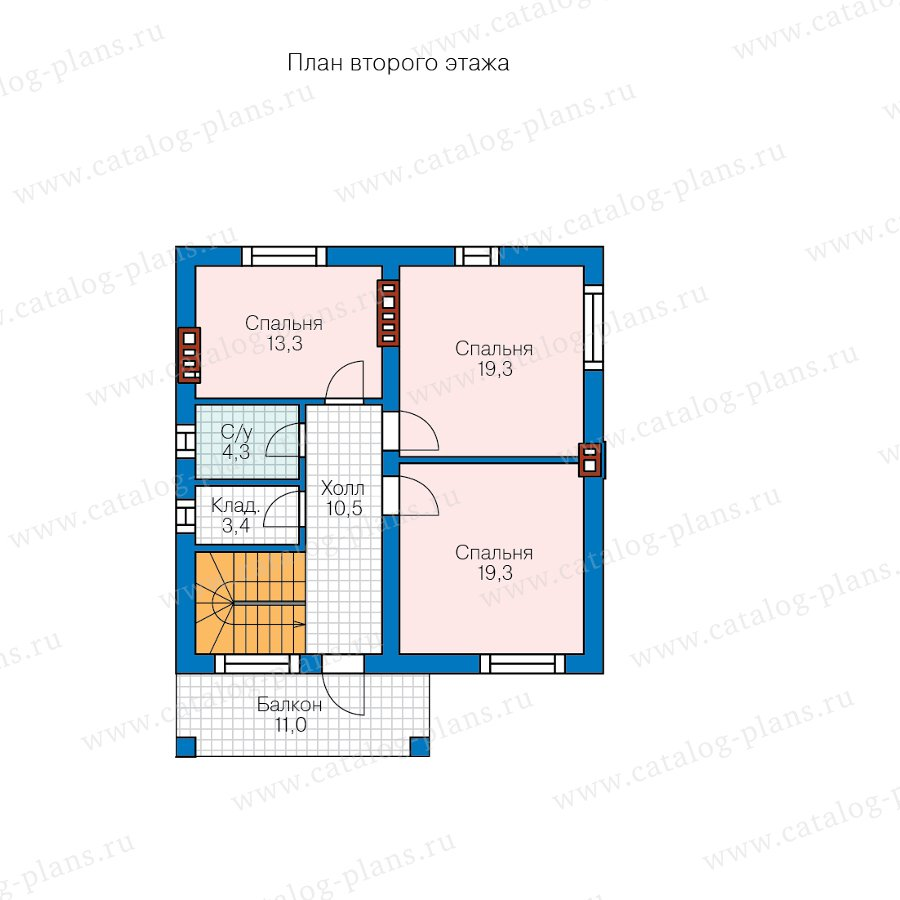 План 2-этажа проекта 57-91B