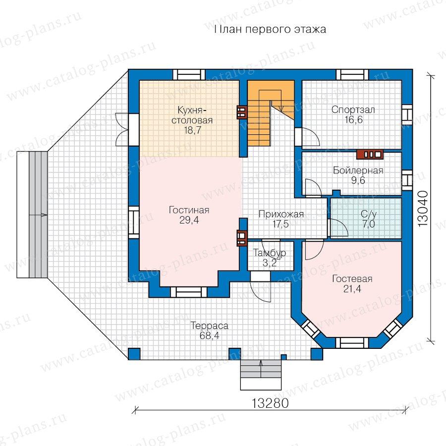 План 1-этажа проекта 40-11N