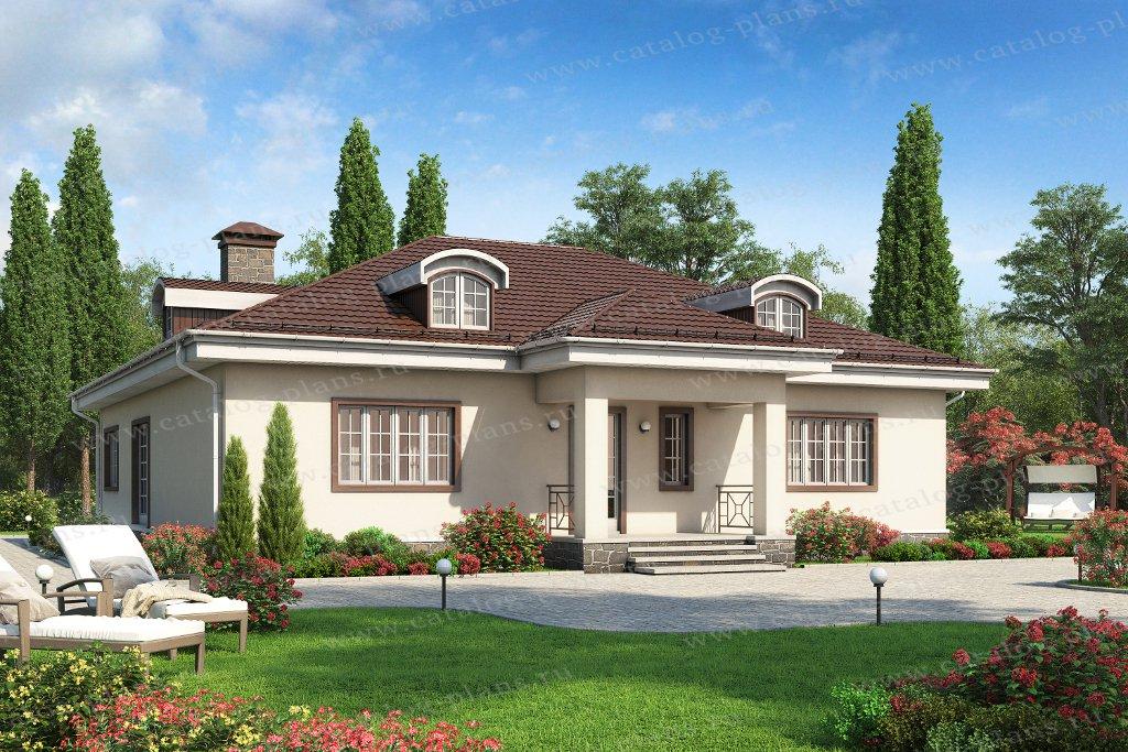 Проект жилой дом #62-25 материал - газобетон, стиль европейский